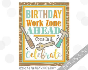 Tool Party Printable Sign | Tools Welcome Sign | Tools Door Sign | Construction Party Welcome | Tool Party | Tool Birthday Boy