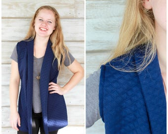 Clothing Gift for Women, Quilted Vest, Long Vest, Vests for Women, Winter Vest, Sleeveless Cardigan, Vest Women, Sweater Vest, Sweater