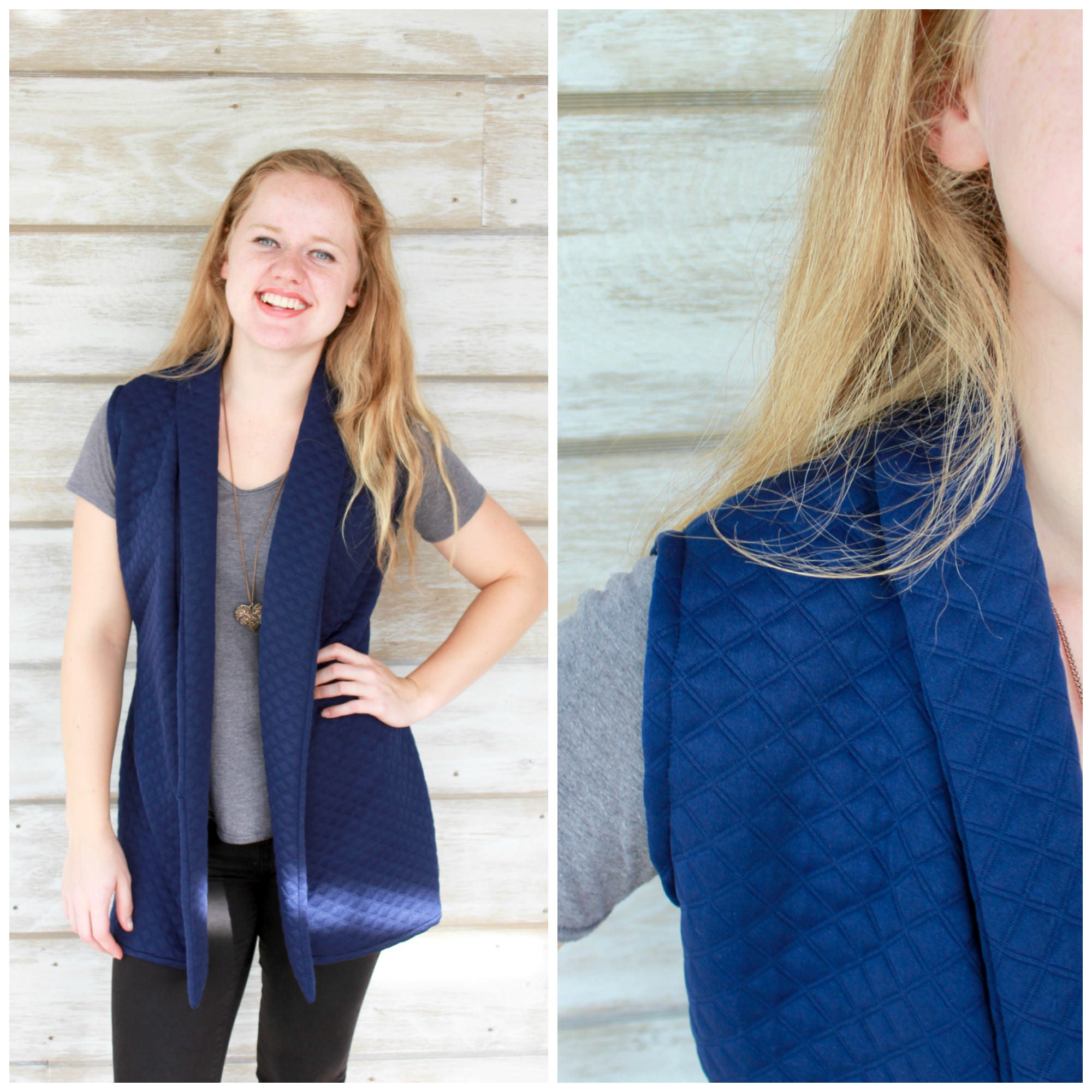 Clothing Gift for Women, Quilted Vest, Long Vest, Vests for Women ...