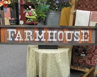 Farmhouse Decor,Farmhouse Sign,Marla Rae,Rustic Frame,7x37