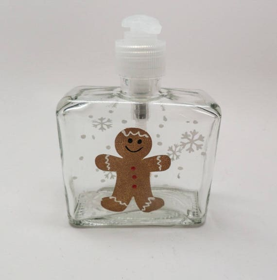 Hand painted Gingerbread Soap Dispenser