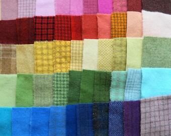 Teinte de vente à la main en laine feutrée des chutes lot numéro 1303 quilting Acres