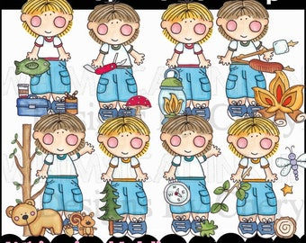 Our Boys Go To Camp Clipart Collection- Immediate Download
