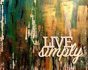 Live simply art print home decor wall decor 8x10 inch