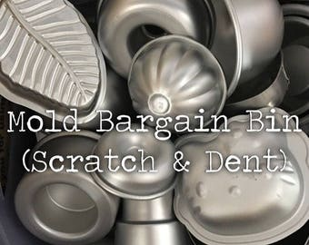 MOLD BARGAIN BIN, Scratch, Dent, Imperfect Molds, Bath Bomb Molds, Two Wild Hares