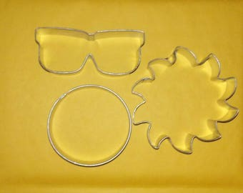Solar Eclipse cookie cutter set of 3 Ltd edition available Sun cookie cutter, Moon Cookie cutter, Viewing glasses cookie cutter, Aug 21 2017