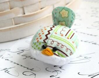 Small Pincushion Mint Green Bird Pincushion Pin Keep Kawaii Bird