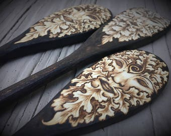 Greenman Spoon Set of 3 - Made to Order