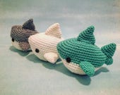 Shark Amigurumi Pattern PDF - Megalodon - Great White - Shark Week - Instant Download