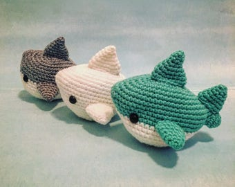 Shark Amigurumi Pattern PDF - Megalodon - Great White - Shark Week - Instant Download