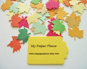 Autumn Leaf - Maple Leaf Confetti-Wedding Confetti- Thanksgiving -Party Decor-Table Scatter