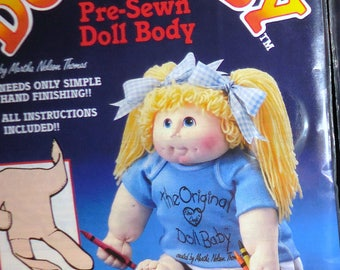 Doll baby Pre - Sewn Doll Body Ships Free