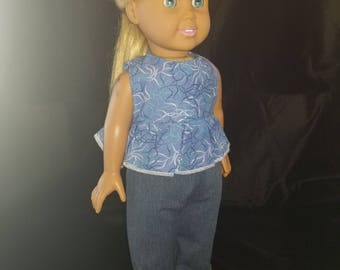 Cute 2 piece outfit for 18 inch doll