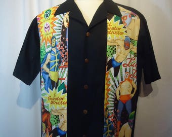 Lucha Libre Panel Shirt Made to order in Men's sizes Small up to 6x