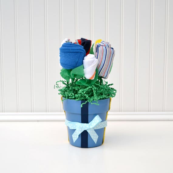 Baby Boy Gift, Baby Shower Gift, Unique Baby Gift, Layette Flower Bouquet, Baby Boy Clothes, Baby Gift Basket, Practical Baby Gift