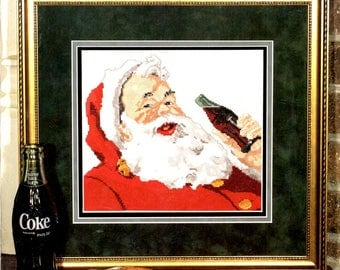 Coca Cola Santa Claus 3 Almost Everyone Appreciates the Best Drinking a Coke Counted Cross Stitch Embroidery Craft Pattern Leaflet 360