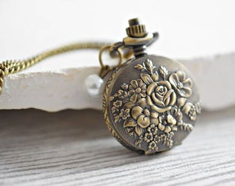 Roses for you- Bronze Locket Watch