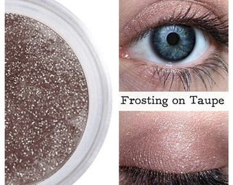 SALE Eyeshadow, Frosting on Taupe, Taupe Eye Shadow, Taupe Eyeshadow, Mineral Eyeshadow, Mineral Makeup, Vegan, Cruelty Free, Eye Makeup