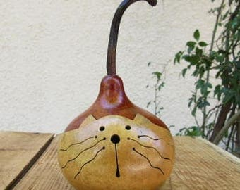 Gourd Kitty Cat Natural Primitive Decoration