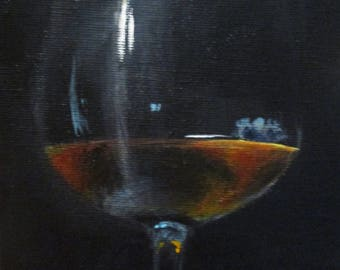 Evening Drink - original daily painting by Kellie Marian Hill