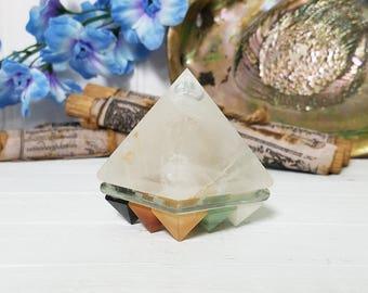 Vastu Shastra Quartz Pyramid with 9 Navagrahas (Planets) for Perfect Balance