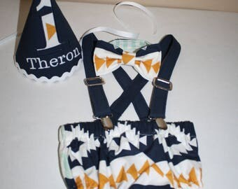 baby boy cake smash outfit boy first birthday outfit tribal aztec