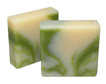 ALOE FRESH MORNING Soap, Cold Processed Soap, Contains Shea Butter, 4.5oz Bar