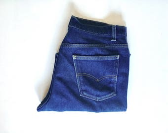 "Vintage Men's 70's Levi's 517, Black Tab, Jeans, Dark Wash, Denim (W34"" x L29"")"
