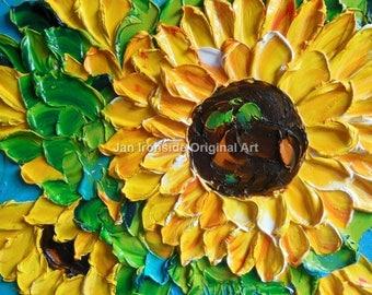 Oil Painting ,  Original art , Sunflowers,  Painting ,  Fine Art,