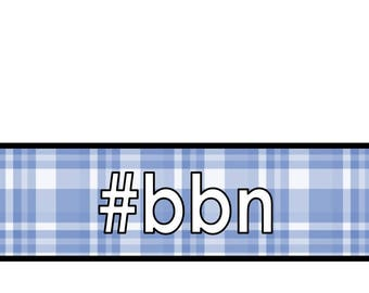 Big Blue Nation plaid note cards digital download A4 sized bbn