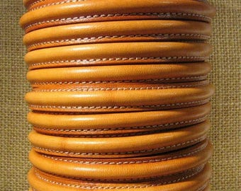 Summer Sale - 25% off Half Round Leather - Light Brown - Choose Your Length