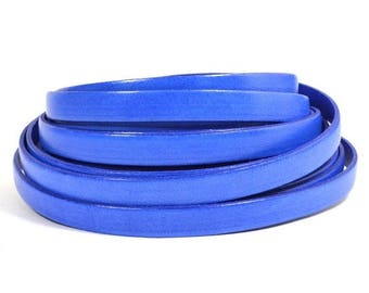 25% Off Blueberry - 10mm Flat Italian Dolce Leather - L10F-D11 - Choose Your length
