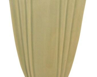 Roseville Pottery Mayfair Tan Corner Wall Pocket 1014-8