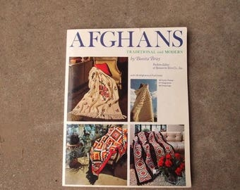 SALE SALE SALE Vintage Pattern Book Afghans Traditional and Modern Bonita Bray 36 Afghans in Full Color Gorgeous