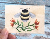 Reserved for smilelylj Bumble Bee, original ACEO