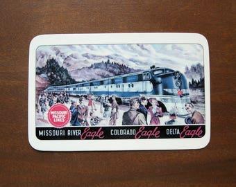 1943 Missouri Pacific Lines Pocket Card Calendar