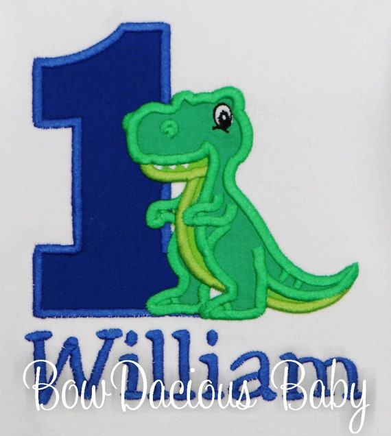 Dinosaur Birthday Shirt For Kids Personalized Tshirt 1st Bday 2nd 3rd 4th 5th 6th Dino T Rex Theme Party ANY AGE COLORS Custom