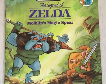1989 Legend of Zelda Nintendo soft cover book