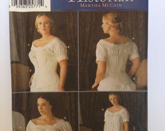 Vintage Chemise & Corset Pattern Simplicity 7215 Fashion Historian Martha McCain Uncut FF 36 38 40 42 bust