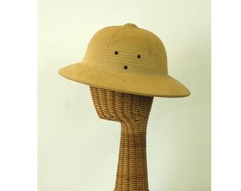 1950s safari hat pith helmet hat hard shell tropical hat