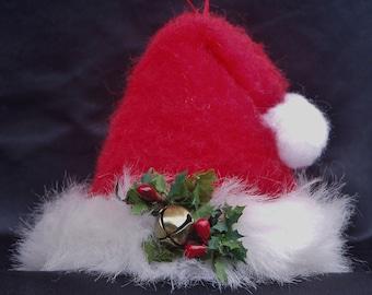 Santa Hat Ornament Primitive Miniature Ornie by Happy Valley Primitives