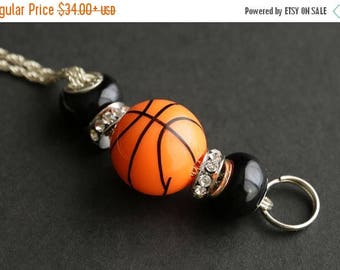SUMMER SALE Basketball Lanyard. Badge Lanyard Basketball Mom Lanyard. Basketball Coach Lanyard. Badge Necklace. Beaded Lanyard. Badge Holder