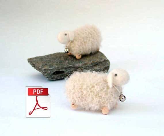 Knitting Pattern Pdf Sheep Pattern Knit Sheep Pattern Tiny White