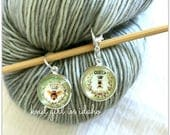 Queen Bee Stitch Marker & Progress Keeper (Set of 2)