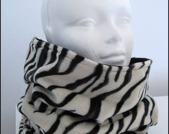 Customizable tube collar. faux fur fleece
