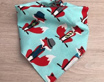 Foxy Dog Bandana / dog bandana / bandana / dog scarf / fox / foxes / animal print / dog accessories / fabric print