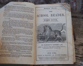 The School Reader First Book by Charles W. Sanders