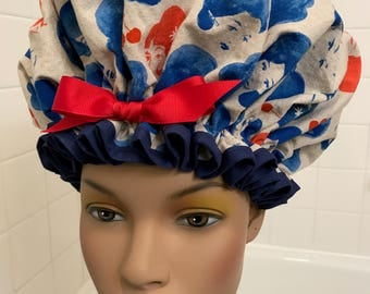1960's Diva XL Machine Washable Waterproof Shower Cap toggle