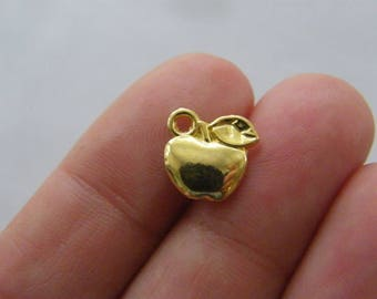 12 Apple charms gold tone GC346