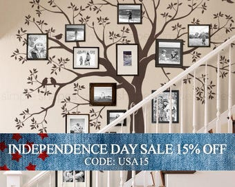 Independence Day Sale - Staircase family Tree Wall Decal  Tree Wall Decal Sticker
